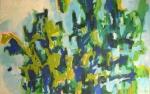 Peuplier - huile sur toile - 130 x 220 cm - 2014
