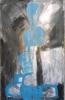 Signe bleu - acrylique sur aluminium - 115 x 178 cm - 2010.