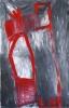 Signe rouge - acrylique sur aluminium - 115 x 178 cm - 2010.