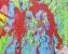Sous bois bleu - huile sur toile - 140 x 110 cm - 2014