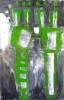 Signe vert - acrylique sur aluminium - 115 x 178 cm - 2010.